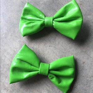 Lime Green Hair Bows 🎀